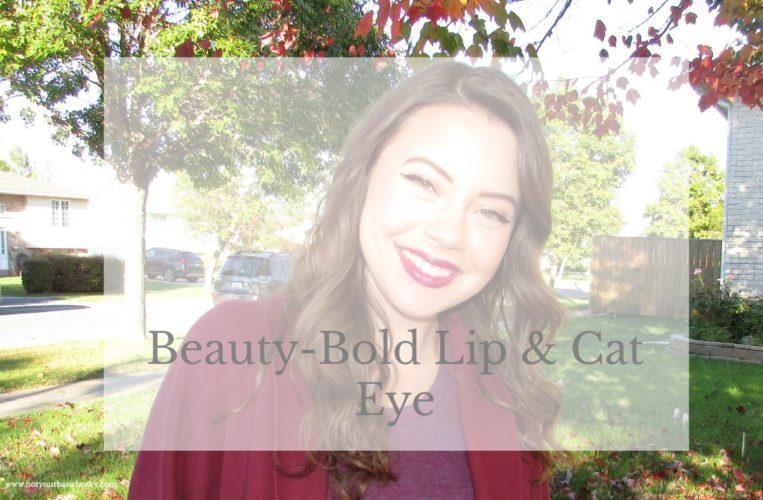Beauty- Bold Lip & Cat Eye- Fall Look