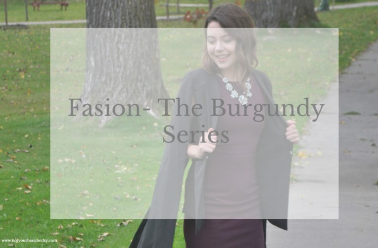Fashion- Burgundy Series- Part 3